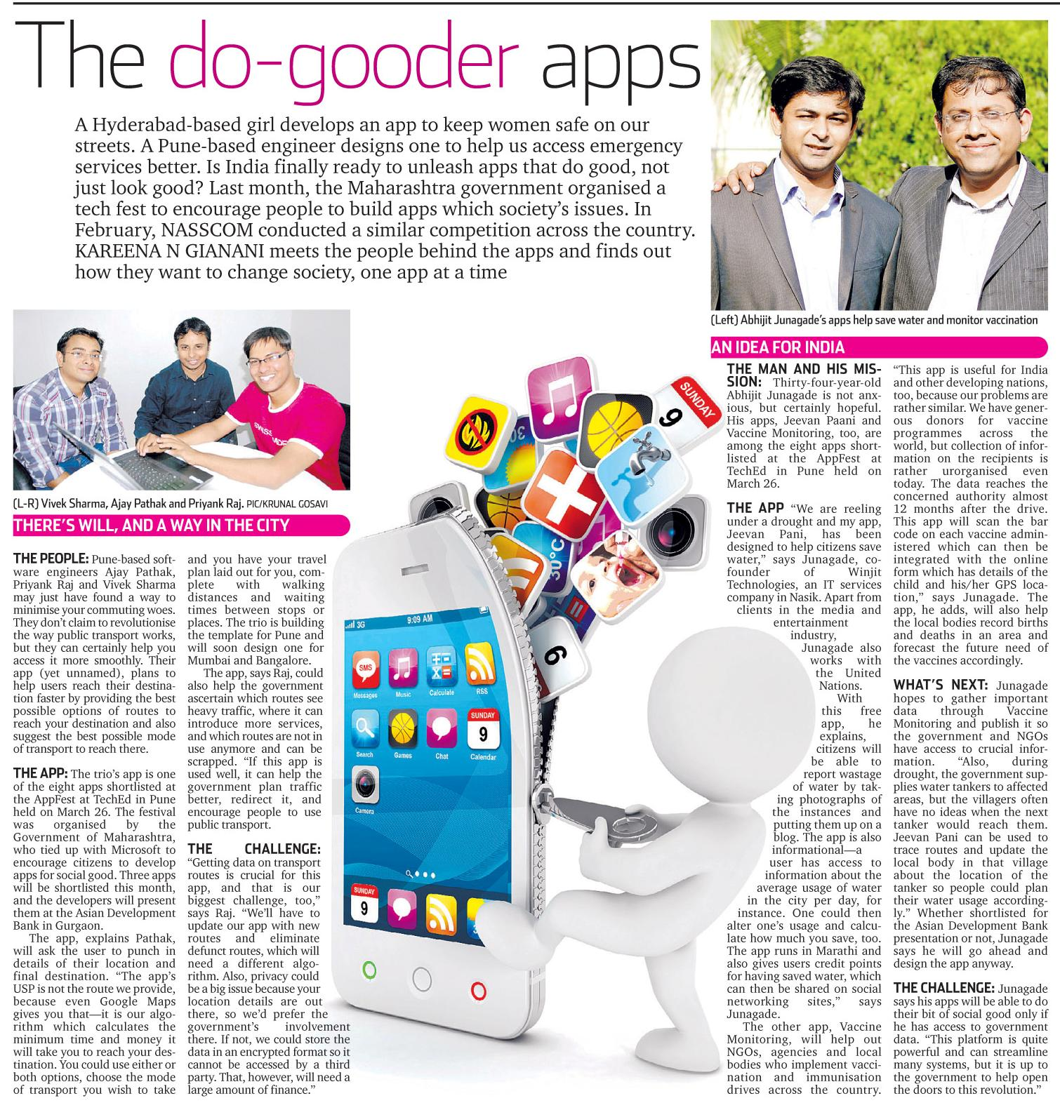 Abhijit Junagade's apps help save water and monitor vaccination
